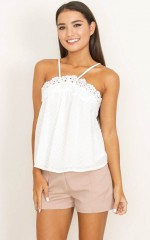 Clairvoyant Top in White