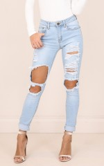 Claudia jeans in light wash