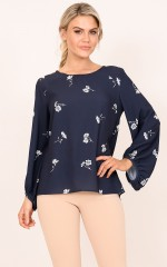 Count On Me top in navy