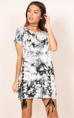 Lets Get Lost tunic in  white tie dye