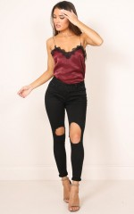Courts skinny jeans in black