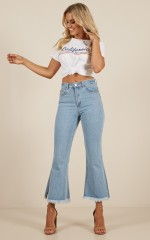 Charlie flare jeans in light wash