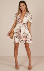 Dancing Around dress in cream floral