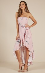 Dancing Barefoot maxi dress in Blush Floral