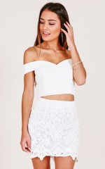 Dark Angel skirt in white crochet