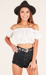 Daisy Chain Top in White