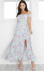 Daytime Dancer maxi dress in sage floral