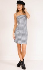 Deep Breath dress in black check