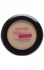 Australis - Fresh and Flawless Pressed Powder in deep natural