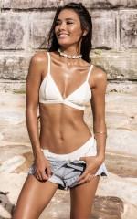 All You Ever Wanted Bikini Top in milk