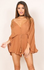 Dance Like Me playsuit in rust