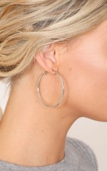 Dont Know When 50mm hoop earrings in silver