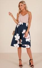 Dream Bigger skirt in navy floral