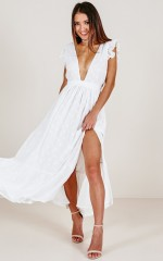 Dream Maker Maxi Dress in White