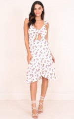 Ease My Mind dress in cream floral