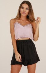 Eastern Dream crop top in mocha