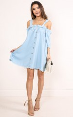 Easy Street dress in light denim