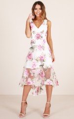 Enchanted Dreams Dress in white floral