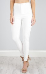 Entourage jeggings in white