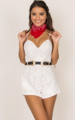 Evernew Playsuit in white