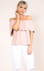 Fallin For You top in blush