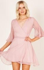 Figure Eight dress in pink polka dot