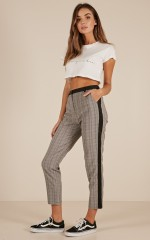 Final Touch pants in grey check