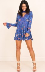 Floral Rendezvous dress in blue floral