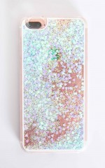 Flying Over Neverland iphone cover in blue glitter - 6