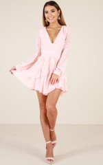 For A Rainy Day dress in blush