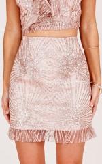 Forever Hoping skirt in gold sequin