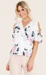 Fulfilling Your Dreams top in white floral