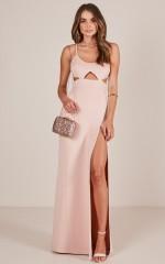 Girl Crush maxi dress in blush