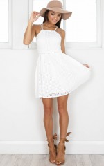 Girl Habits dress in white