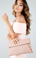 Girl Boss clutch in dusty pink