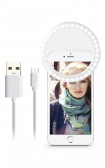 Girl On Point rechargeable selfie ring light in white