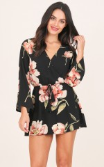 Glory Days dress in black floral