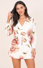 Glory Days dress in white floral