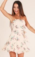 Go My Own Way dress in beige floral