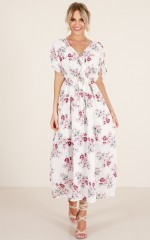 Golden Ones maxi dress in white floral