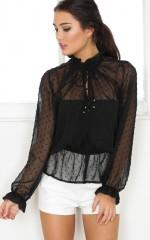 Good Girl Gone Bad top in black