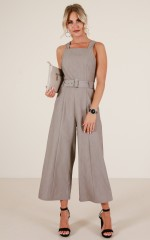 Goodnight Kiss jumpsuit in taupe