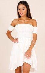 Got Your Own Way dress in white