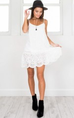 Have Faith In Me Dress in white