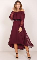 Heart And Soul Dress in Wine