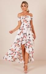 Heart Breaker Maxi dress in white floral
