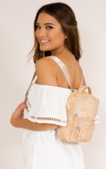 Heartline Match backpack in nude