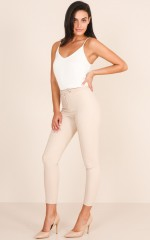 Hierarchy Pants in Beige