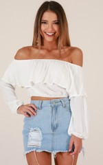 High Maintenance top in white