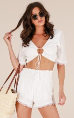 Honey Life two piece set in white